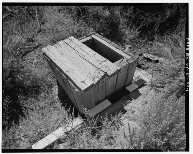 Superior Coal Mines, Valve Box, Horse Thief Canyon, South Superior, Sweetwater County, WY