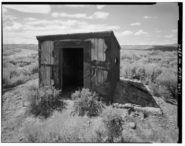 Superior Coal Mines, Valve House, Horse Thief Canyon, South Superior, Sweetwater County, WY