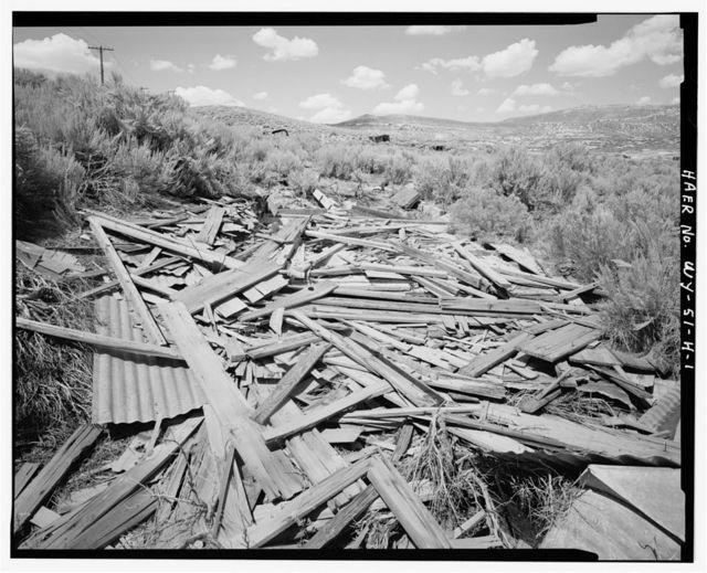Superior Coal Mines, Wood Foundation, Horse Thief Canyon, South Superior, Sweetwater County, WY