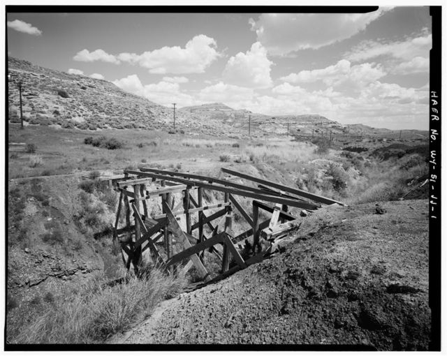 Superior Coal Mines, Wooden Bridge, Horse Thief Canyon, South Superior, Sweetwater County, WY