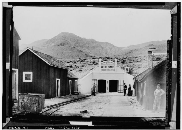 Sutro Tunnel Entrance, Comstock Mines vicinity, Dayton, Lyon County, NV