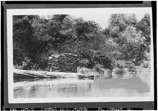 Sutter's Mill, American River (submerged), Coloma, El Dorado County, CA