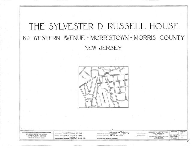 Sylvester D. Russell House, 89 Western Avenue, Morristown, Morris County, NJ