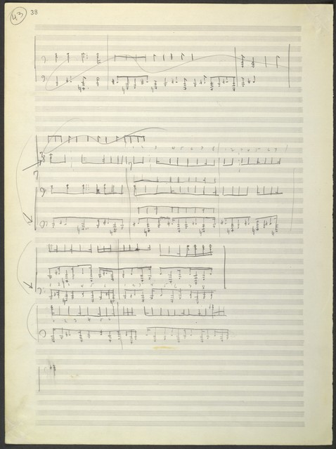 Symphonic ode [sketches, 2nd [clearer] version]