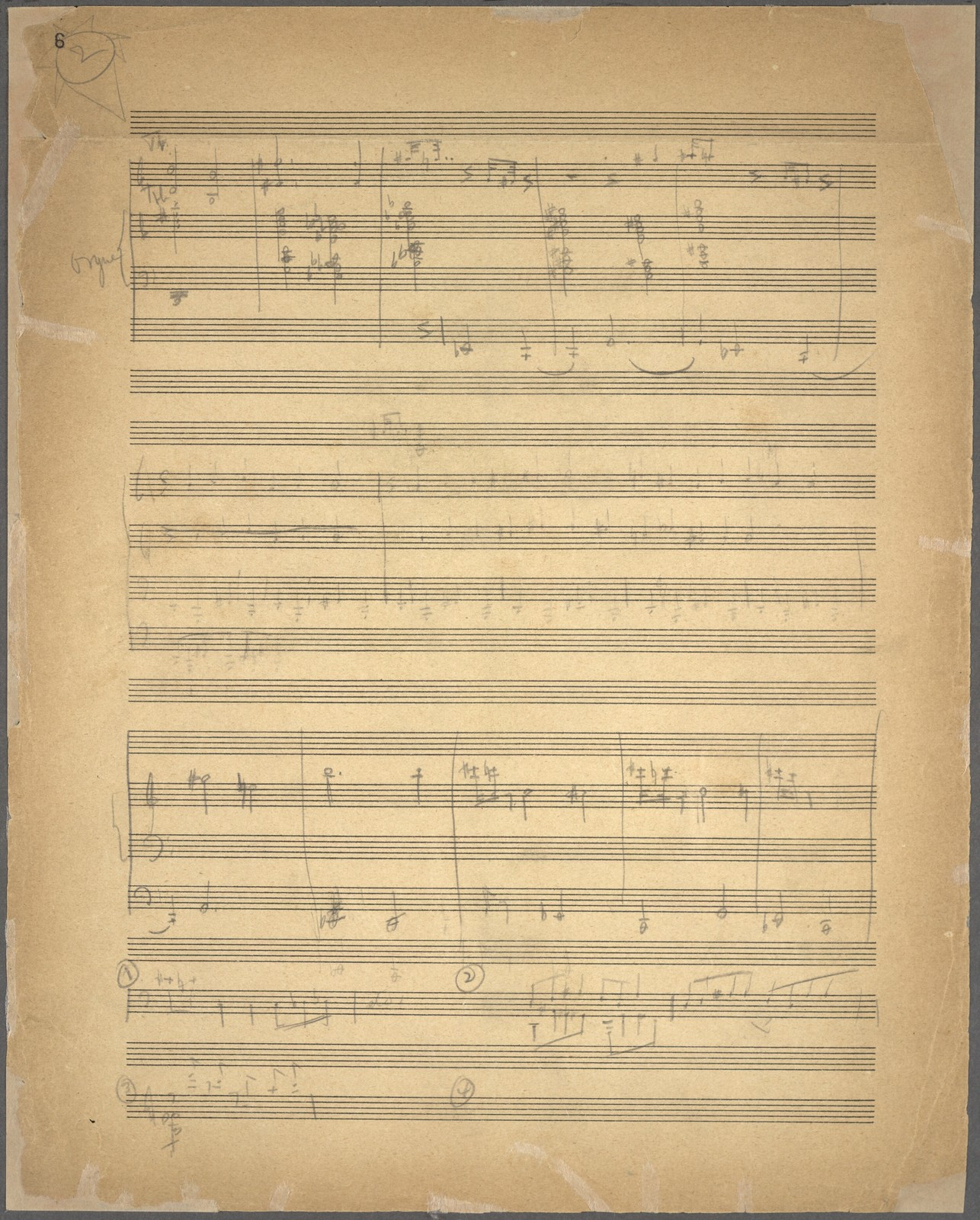 Symphony for organ and orchestra [rough sketches]