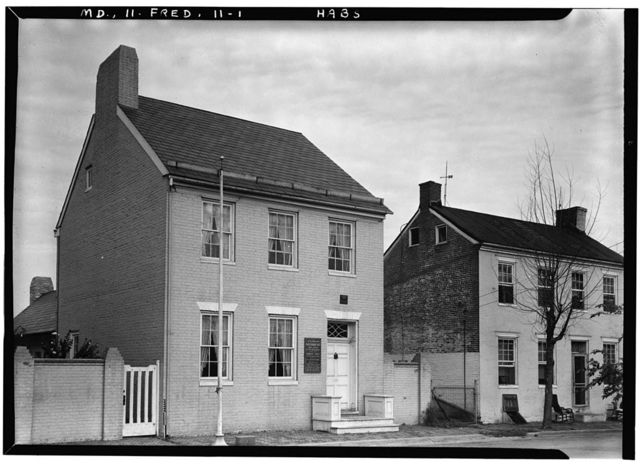Taney (Roger Brook) House, 121 South Bentz Street, Frederick, Frederick County, MD