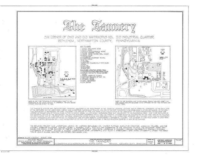 Tannery, Monocacy Creek vicinity, Bethlehem, Northampton County, PA