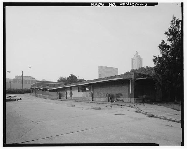 Techwood Homes, Store & Administration Building, 114-138 Merrit Avenue, Atlanta, Fulton County, GA