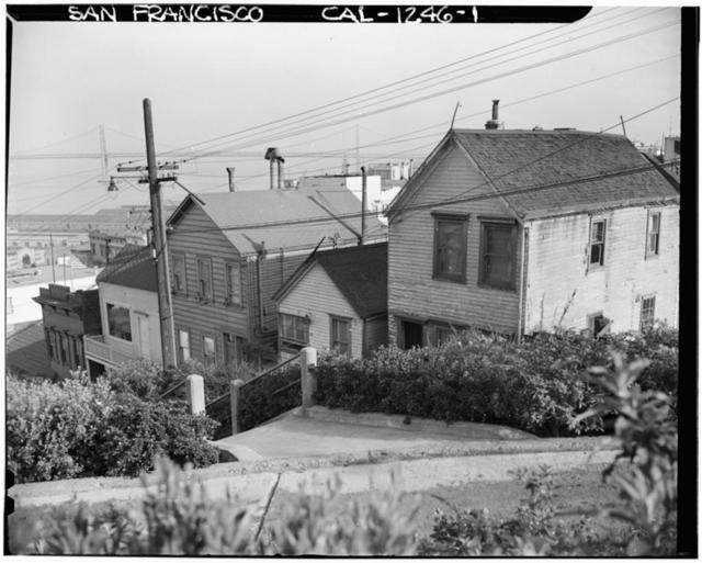 Telegraph Hill (Houses), Filbert Street, San Francisco, San Francisco County, CA