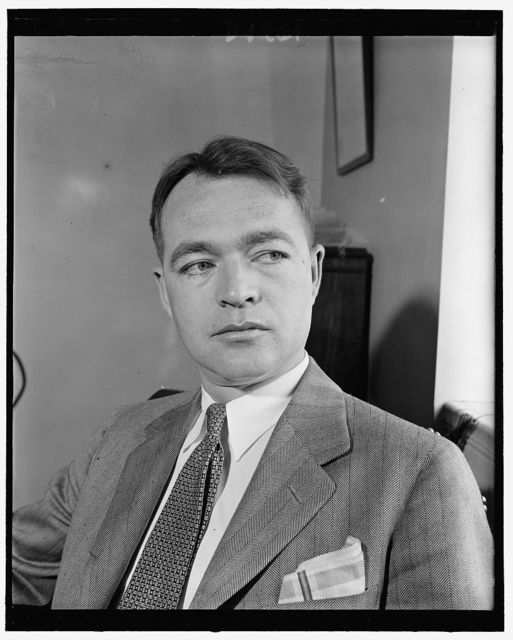 Telford Taylor, new general counsel of Federal Communications Commision to succeed William J. Dempsey, resigned, 5-8-40