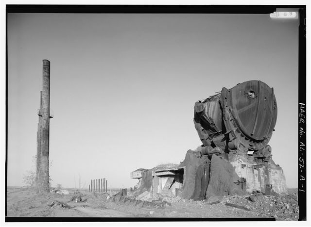 Tennessee Coal & Iron Company, Ensley Works, Open Hearth Furnace (Ruins), West of Ensley commercial & residential districts, Birmingham, Jefferson County, AL