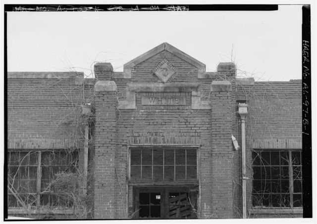 Tennessee Coal & Iron-U.S. Steel Surface Plant, Company Bathhouse for White Ore Miners, East of State Route 150 on South slope of Red Mountain, Bessemer, Jefferson County, AL