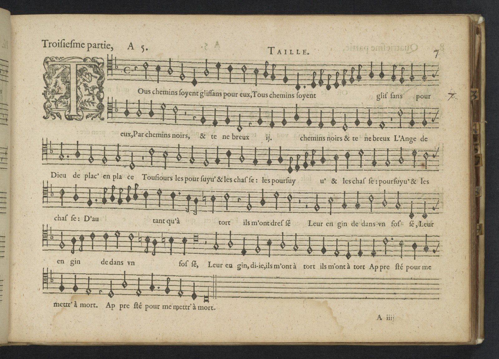 Tenor [Pseaumes de David and sacred part songs from Claude Le Jeune, Jan Peiterszoon Sweelinck, Paschal de L'Estocart, Orlando di Lasso, Jan Tollius in the 16th and the early17th century]