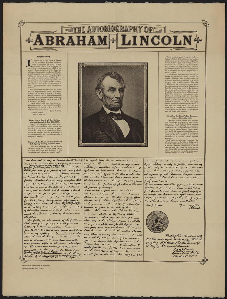 Autobiography of Abraham Lincoln