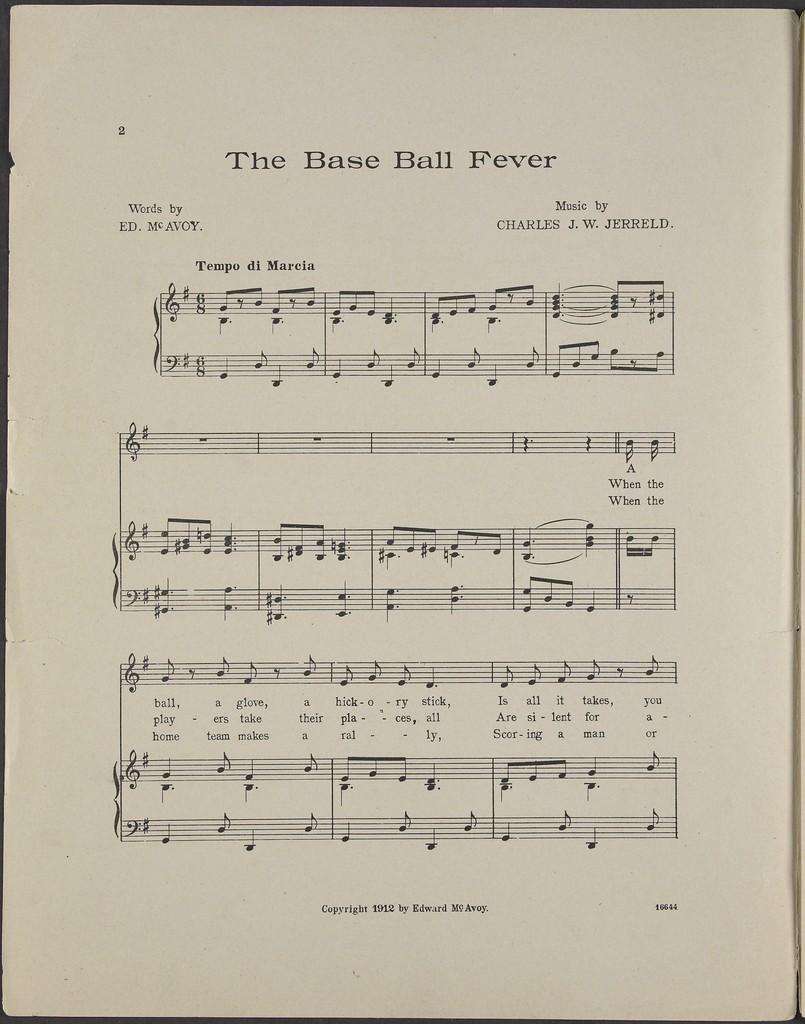 The  base ball fever