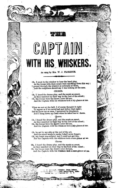 The captain with his whiskers. H. De Marsan, Publisher, ... No. 54 Chatham St., N. Y