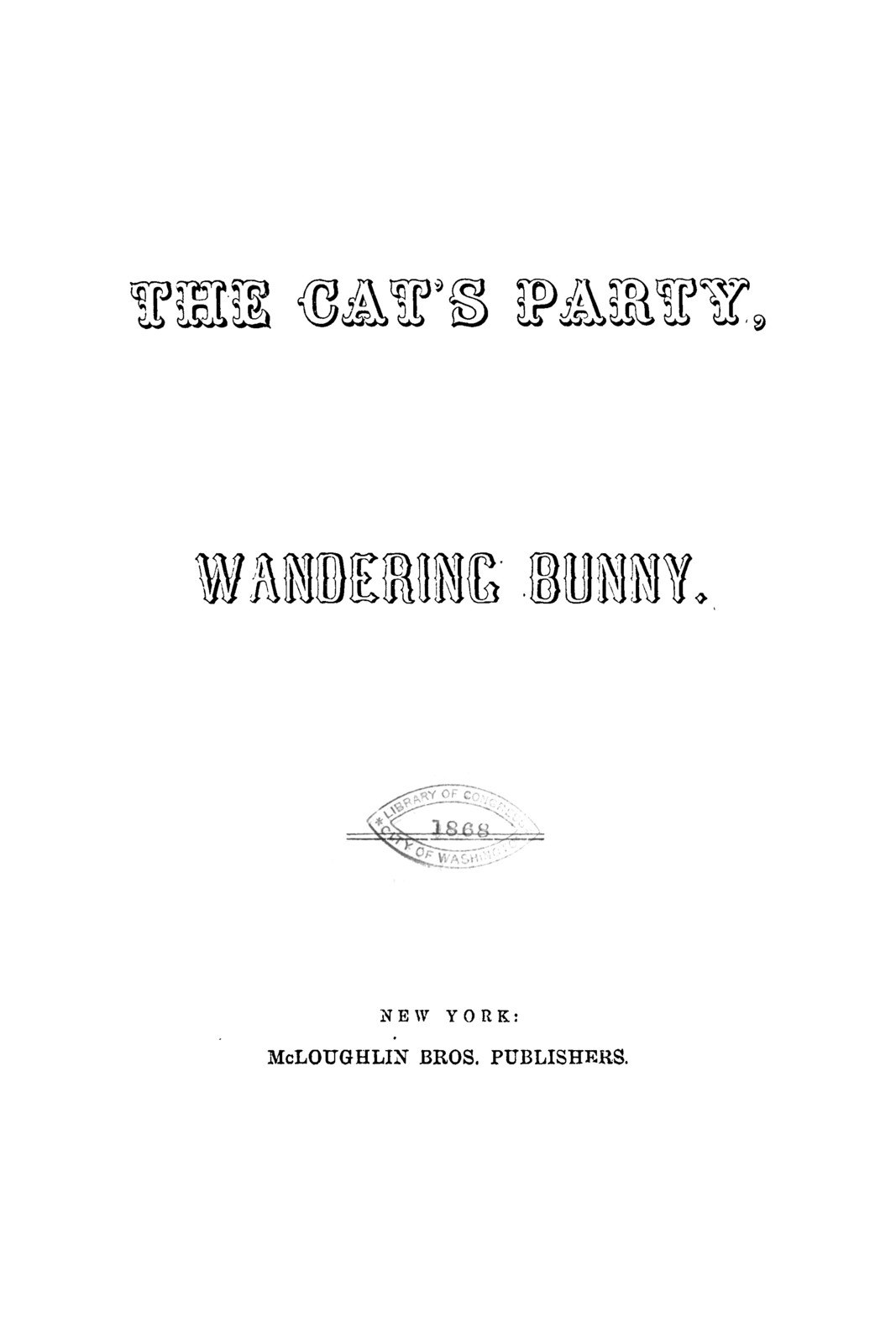 The cat's party ..