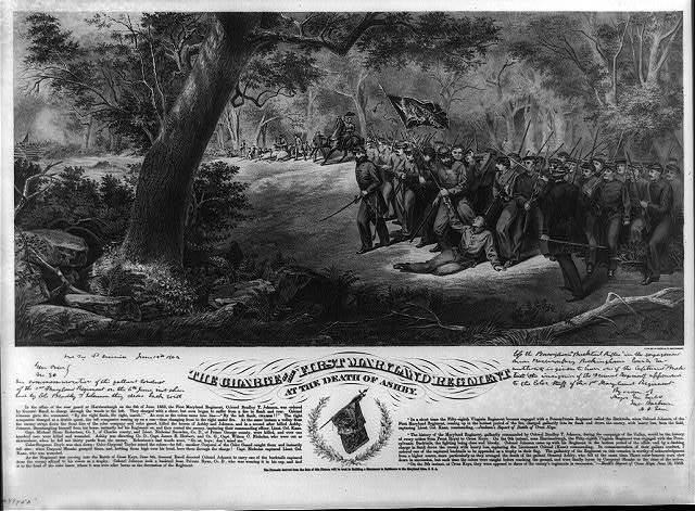 The charge of the first Maryland regiment at the death of Ashby