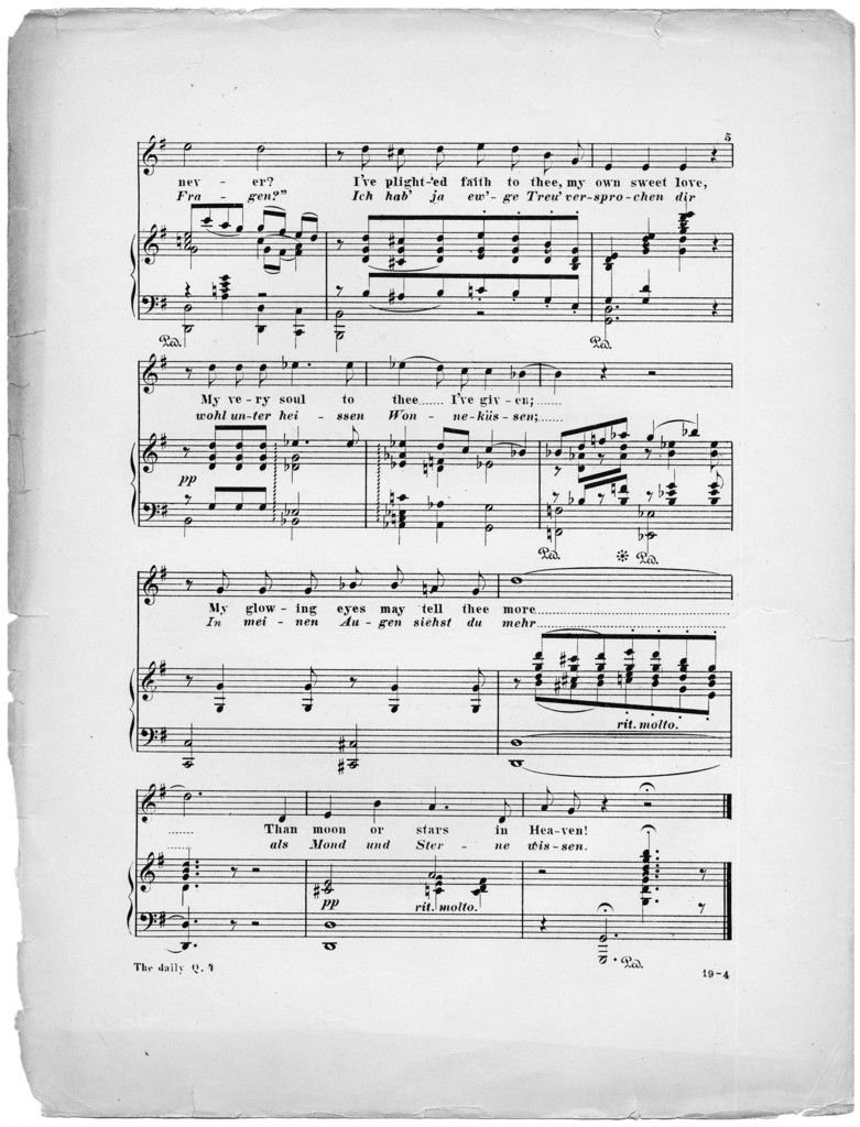 The  daily question, op. 5, no. 5