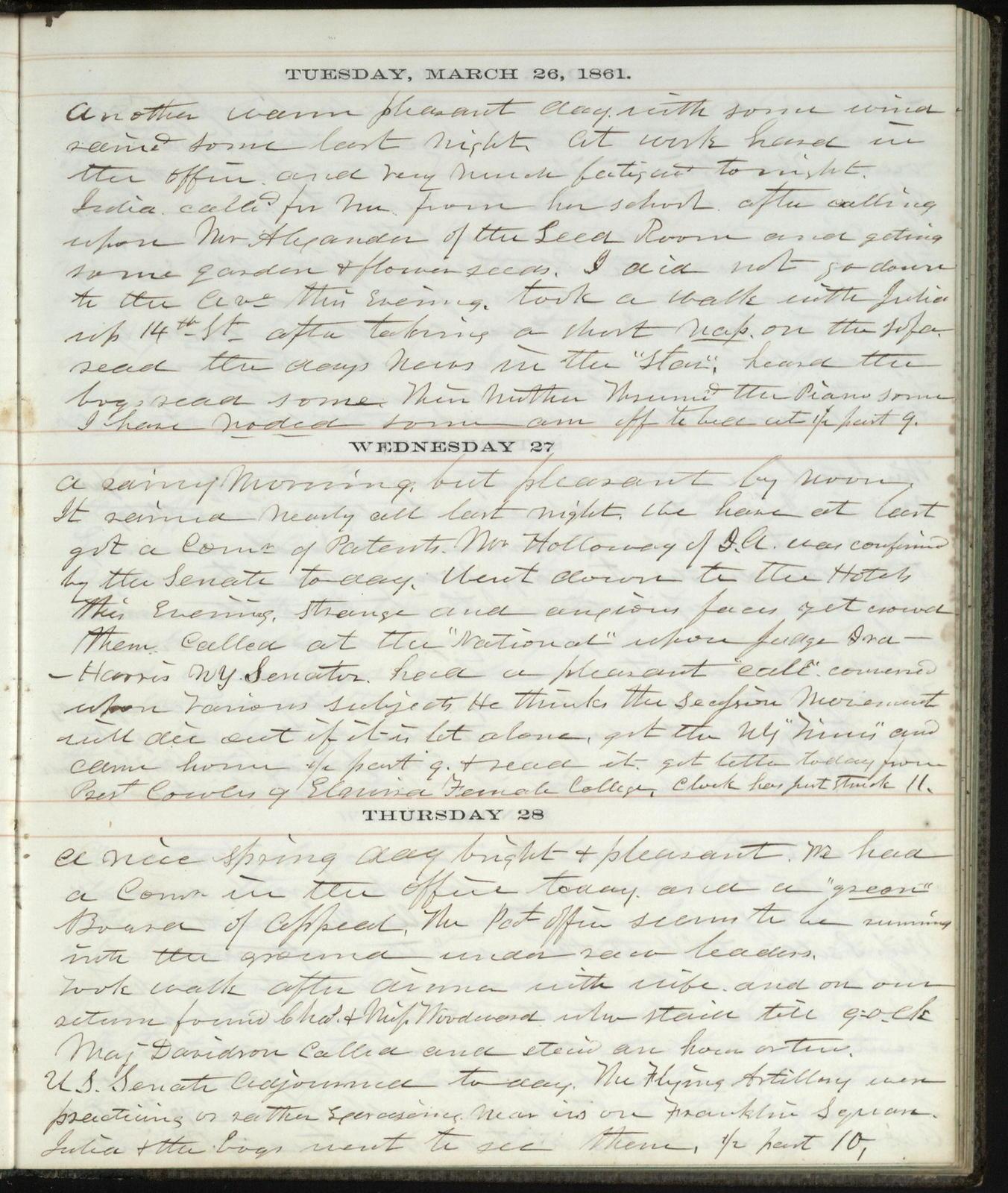 The Diary of Horatio Nelson Taft, 1861-1865. Volume 1, January 1,1861-April 11, 1862