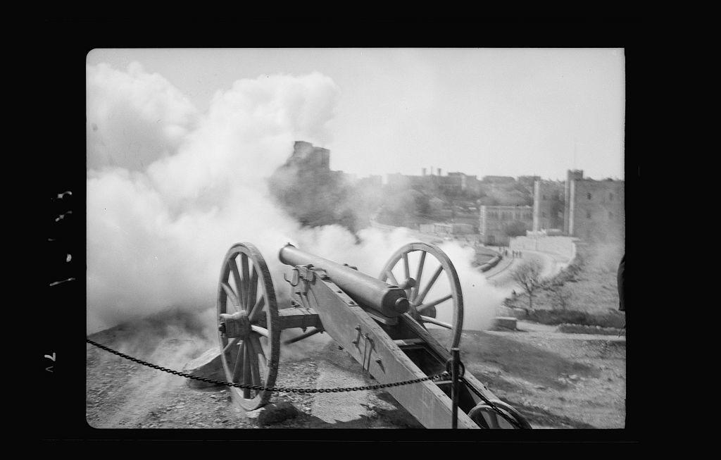The firing of the Byram [i.e., Bayram] canon on Gordon's Cavalry