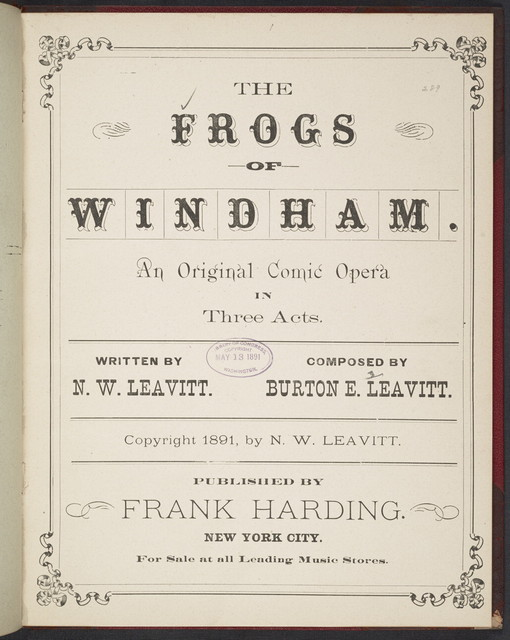 The  Frogs of Windham