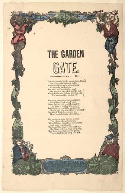 The garden gate. H. De Marsan, Publisher, ... 38 Chatham Street, N. Y