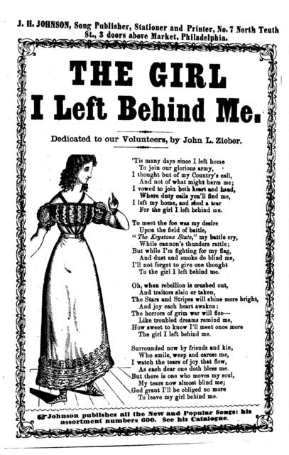 The girl I left behind me. J. H. Johnson, Song Publisher, Philadelphia