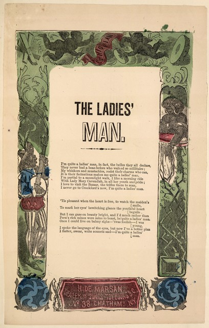 The ladies' man. H. De Marsan, Dealer, ... No. 38 Chatham Street, N. Y