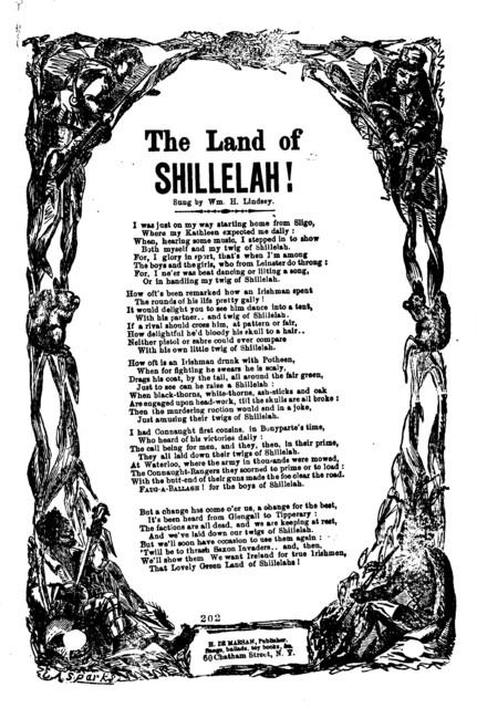 The land of Shillelah! H. De Marsan, publisher, 60 Chatham Street, N. Y