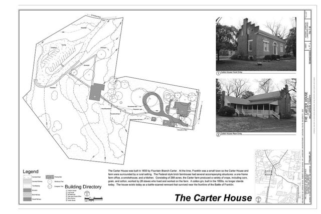 The Landscapes of the Battlefield of Franklin, Tennessee, The Carter House, 1140 Columbia Avenue, Franklin, Williamson County, TN