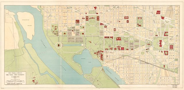 The Mall and vicinity, Washington : 1927 /