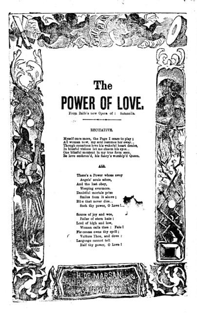 The power of love. H. De Marsan, Dealer, No. 54 Chatham Street, N. Y
