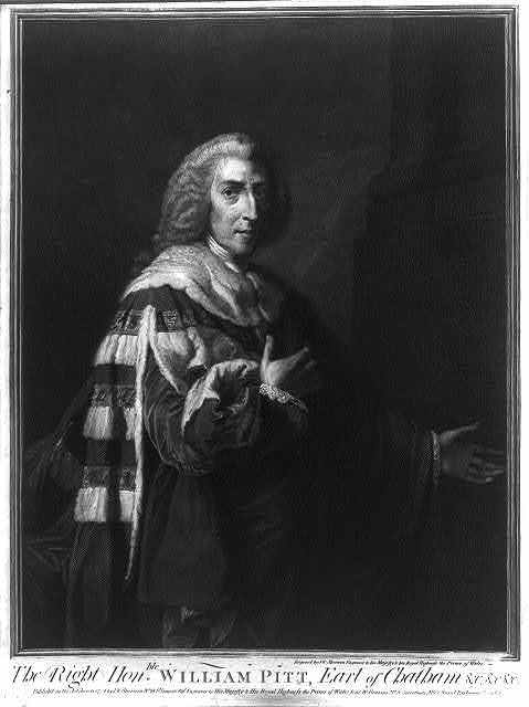 The Right Hon.ble William Pitt, Earl of Chatham &c,&c,&c