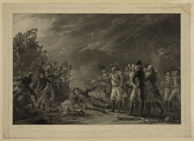 The sortie mad by the garrison in the morning of the 27 of Nov. 1781