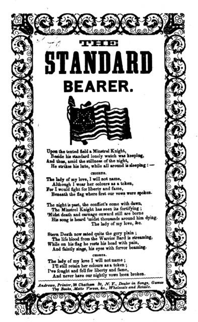 The standard bearer. Andrews, Printer, ... 38 Chatham Street, N. Y