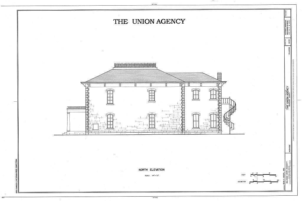 The Union Agency, Honor Heights Park, Muskogee, Muskogee County, OK
