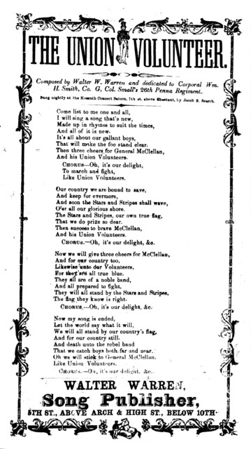 The Union volunteer. Composed by Walter W. Warren. Walter Warren, Song Publisher