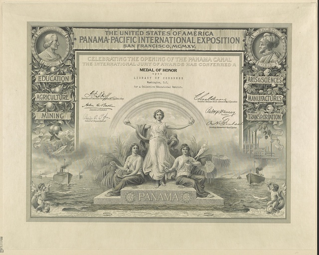 The United States of America Panama-Pacific International Exposition San Francisco, MCMXV