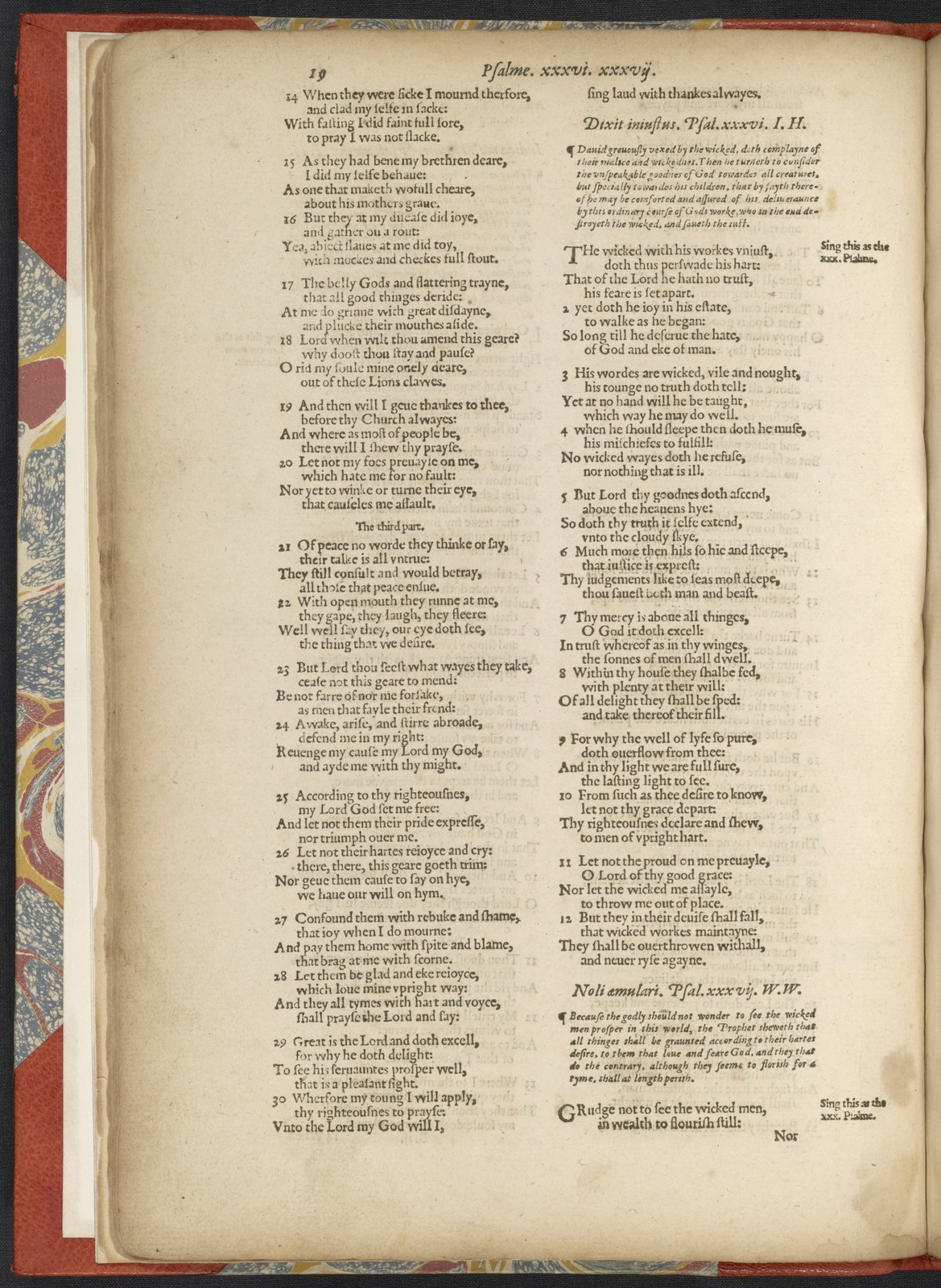 The  whole booke of psalms