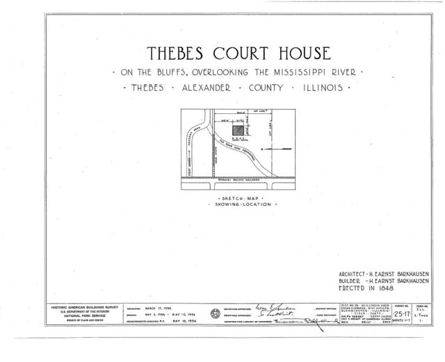 Thebes Courthouse, Thebes, Alexander County, IL