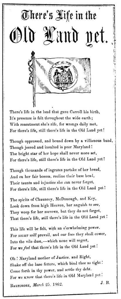 There's life in the old land yet. Baltimore, March 25, 1862