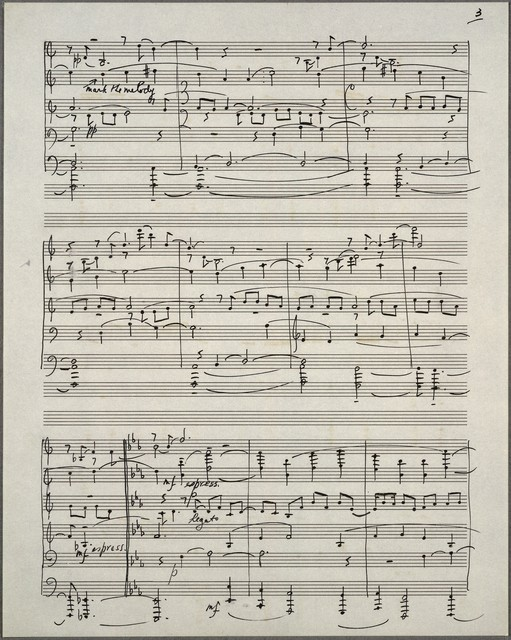Third symphony [ozalid piano score]