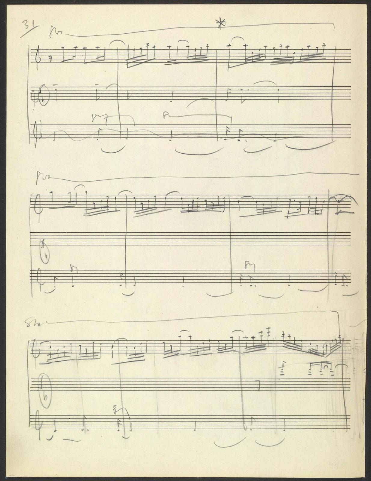 Third symphony [pencil draft]