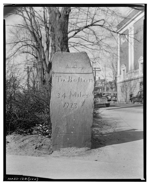 Thirty-four-mile Stone, Milford, Worcester County, MA