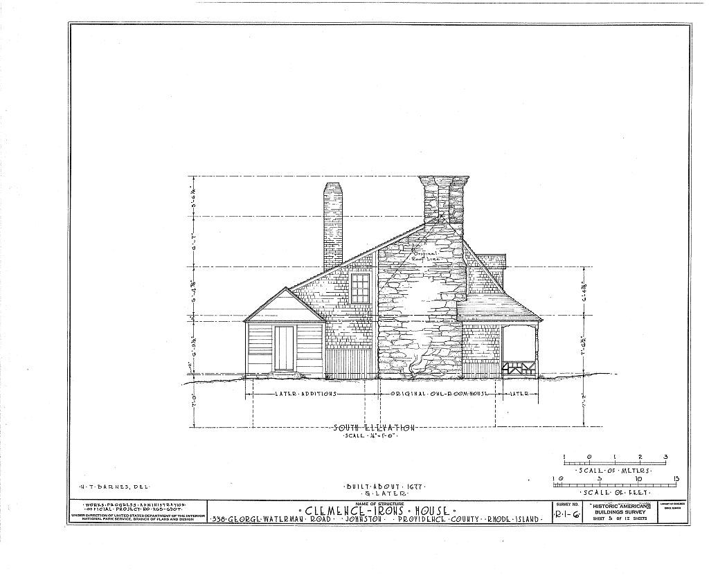 Thomas Clemence House, 38 George Waterman Road, North Providence, Providence County, RI