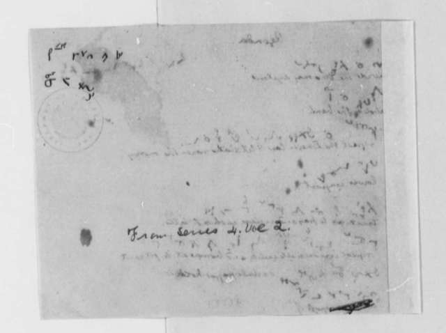 Thomas Jefferson, , Agenda for Cabinet Meetings, Partly Written in Shorthand