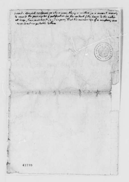 Thomas Jefferson, no date, Draft Manuals and Notes on Parliamentary Rules