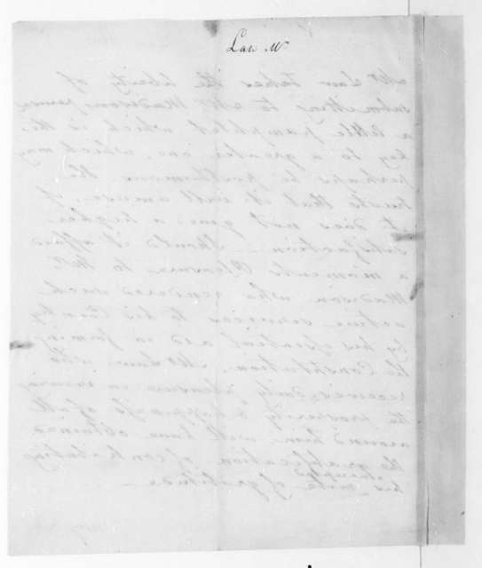 Thomas Law to James Madison. Transmittal of tax proposals.