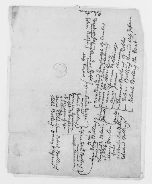 Thomas Mann Randolph, Jr., no date, Notes on the Genealogy of Pocahontas